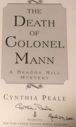 The Death of Colonel Mann A Beacon Hill Mystery )