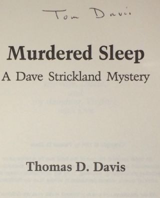 Murdered Sleep A Dave Strickland Mystery