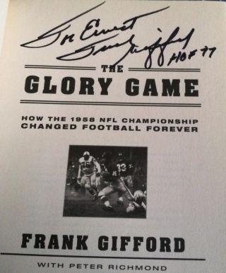 The Glory Game : How the 1958 NFL Championship Changed Football Forever